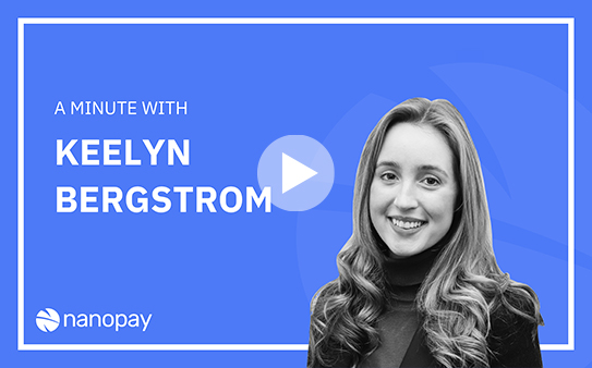 A minute with' Keelyn, discussing investment in fintech